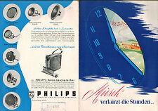 Musik verkürzt die Stunden, Philips Autoradio Auto-Super 493, ill. Prospekt 1952