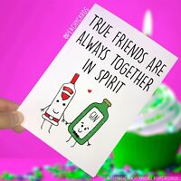 Friendship Cards Best Friend Celebration Gin Lover Gift Birthday Christmas PC149