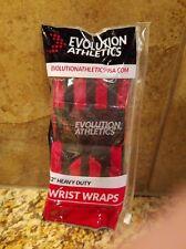 "12"" Heavy Duty Wrist Wraps for Weightlifting Gymnastics Cross Training Red/Black"
