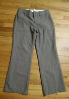 WOMEN'S GRAY GREIGE DRESS PANTS - BANANA REPUBLIC JACKSON FIT - SIZE 6