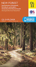 OL22 New Forest Southampton Ringwood Ordnance Survey Explorer Map OL 22
