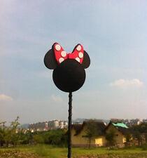 Cute Black Bowknot Minnie Antenna Ball Car Aerial Ball Antenna Topper Decor Ball