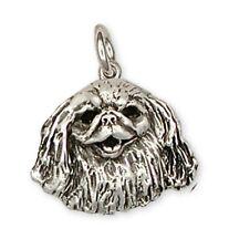 Pekingese Charm Handmade Sterling Silver Dog Jewelry D65-C