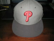 PHILADELPHIA PHILLIES  FITTED BASEBALL HAT:Size 7 1/4; NEW ERA;59FIFTY GRAY;NEW