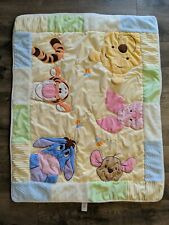 Disney Baby Winnie The Pooh Friends Plush Thick Blanket COMFORTER 34x42""