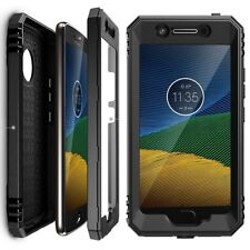 For Moto G5 Poetic Revolution Series Case With Built-In Screen Protector Black
