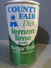 COUNTRY FAIR LEMON-LIME WIDE SEAM STEEL SODA CAN   -[READ DESCRIPTION]-