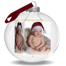 Tolles Weihnachtsgeschenk. Christbaumkugel mit Deinem Foto, Weihnachtskugel Glas