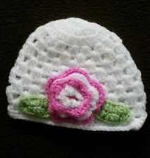 Floral 100% Wool Baby Caps & Hats