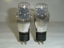 2 Vintage Arcturus 2A3 Mono Plate Spring Top Engraved Base Matched Amp Tube Pair