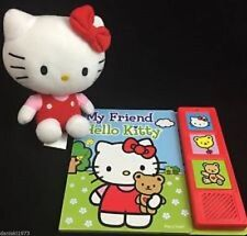 Hello Kitty Play-a-Sound Book and Cuddly Hello Kitty NEW USA seller