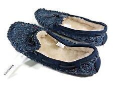 190ef7e9e28 NWT Sonoma Womens Textile   Faux Fur Moccasin Slippers 11 12