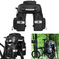 75L Cycling MTB Bike Bicycle Rear Seat Pannier Trunk Bag Pounch Handbag 3 in 1