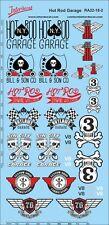 HOT Rod garage decals rosso 1/18 TUNING serigrafia ra22-18-2