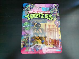 1988-1990 Playmates TMNT Teenage Mutant Ninja Turtles Donatello MOC UNPUNCHED!