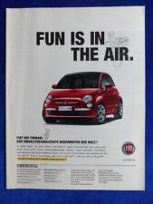 Fiat 500 Twinair - Werbeanzeige Reklame Advertisement 2011 __ (436