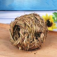 Pet Woven Grass Straw Small Rabbit Hamster Cage Nest House Chew Toy Hedgehog Bed