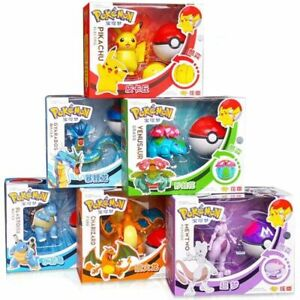 Pokemon W/ Pokeball Deformation Figures Six Different. US Seller Free Shipping.