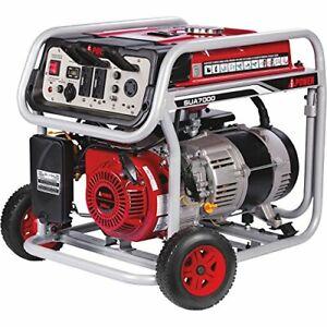 A-iPower 7,000-Watt Portable Gas Powered Electric Start Generator with Wheel Kit