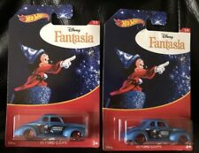 HOT WHEELS NEW DISNEY FANTASIA '40 FORD COUPE 2018 ( LOT OF 2 )  FREE SHIPPING!!