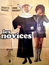 Affiche 120x160cm LES NOVICES (1970) Brigitte Bardot, Annie Girardot TBE #