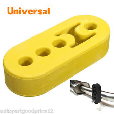 Yellow Universal Car Exhaust Tail Pipe Mount Brackets Hanger Insulator 12mm Hole