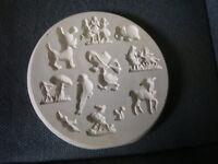 "Vintage Duncan's E-Z Press Ceramic Bisque Mold No. 11 ""Children""  ShipsSame Day"