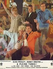 ELVIS PRESLEY  NANCY SINATRA SPEEDWAY 1968 VINTAGE LOBBY CARD  #9