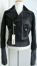 DIESEL RYENN GIUBBINO Leather Jacket Damen Lederjacke Jacke Gr.S NEU mit ETIKETT