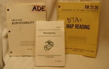 3 US Military Manuals - FM5103 Survivability MCDP1 Warfighting FM21-26 Map Read