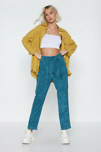 NWT k.zell Paris by Nasty Gal Women's High Waist Corduroy Trousers cord bloggers
