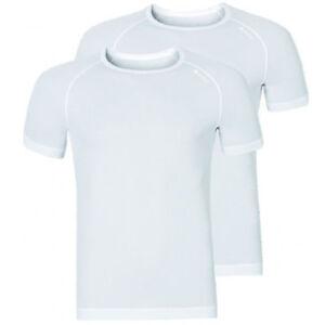 Odlo Shirt s/s Crew Neck CUBIC Light Doppelpack Men White   192282-10440