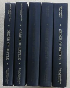 WW1 US Army 5 Book Set ORDER of BATTLE of the U.S. LAND FORCES in the WORLD WAR