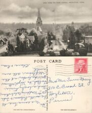 NAUGATUCK CT VIEW FROM THE HIGH SCHOOL ANTIQUE POSTCARD