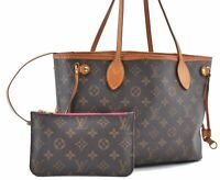 Auth Louis Vuitton Monogram Neverfull PM Pivoine Tote Bag M41245 LV A8252