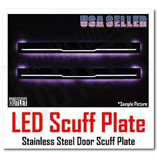 07-13 Chevy Silverado GMC Sierra 1500 LED Light Stainless Door Sill Scuff Plate