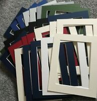 25 PICTURE FRAME MOUNTS OVERALL 9X7 INCH FOR 5 X 7 INCH PHOTO PRINT ASST COLOURS