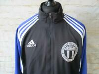 MENS VINTAGE ADIDAS LINED TRACKSUIT TOP SIZE L / REF S0470