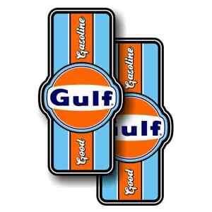 2 x Gulf Gasoline 10x5cm USA Muscle Car STICKER AUFKLEBER Ratte oldschool