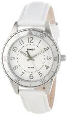 Timex Ladies T2P022 – Wristwatch Watch Unisex White Leather Strap