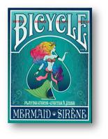Sirena Bicycle Jugando a las Cartas (Turquoise) Póquer Juego de Cartas Cardistry