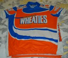 Vintage PEARL IZUMI WHEATIES Cycling Jersey Shirt Zip Size X-Large XL PRIMO!!!!!