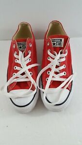 Converse All Star Chuck Taylor Unisex Canvas Low Top Shoes Men 5 Womens 7 Red