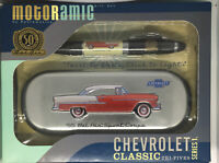 MOTORAMIC PEN GIFT SET RED 1955 CHEVROLET BEL AIR SPORT COUPE LIGHT '55 NEW