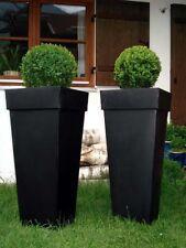 """Casa Mina Zink Blumenkübel Pflanzkübel """"Shanghai"""" 2er Set Schwarz 70cm"""