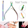 2 Pcs Cuticle Remover Spoon Pusher Nipper Cutter Clipper Trimmer Nail Tools New