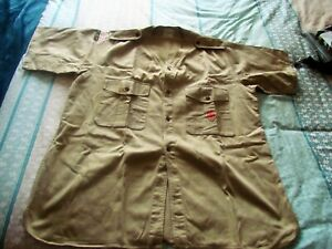 vintage BOY SCOUTS SHIRT WITH A FEW PATCHES