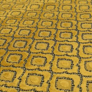Yellow Geometric Patterned design soft velvet Upholstery Curtain Cushions Fabric