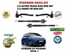 FOR CITROEN C4 PICASSO 2013->2X OUTER + 2X INNER STEERING RACK TRACK TIE ROD END