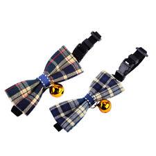 Adjustable Cute Pet Puppy Small  Dog Collars Cat Kitten Bow Tie Necktie W/ Bell